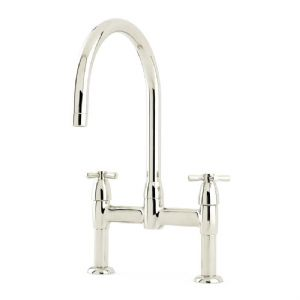 4292 Perrin & Rowe Io Two Hole Sink Mixer Tap with Crosshead Handles